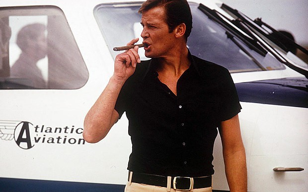 Sir Roger Moore: 'I can't drink martinis any more – but life is bliss'