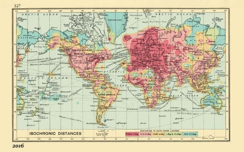 Heat map shows how the world has shrunk for travellers: 1914 v 2016