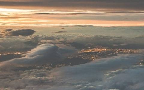 Electrifying photographs of storms... taken by a pilot at 40,000ft