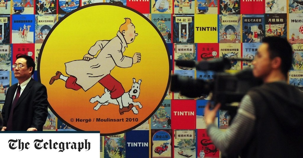 84-year-old Tintin painting expected to fetch record amount at auction