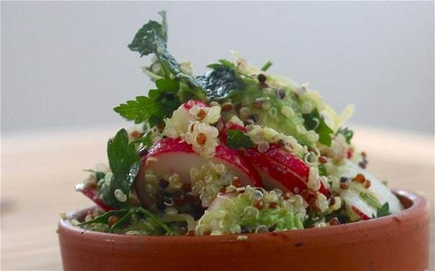 Alex James's quinoa, avocado, radish and pickled lemon salad recipe