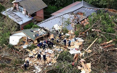 Most powerful typhoon to strike Japan in 10 years leaves trail of death and destruction