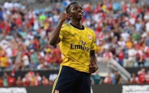 Unai Emery challenges Eddie Nketiah to stay at Arsenal and fight for first-team spot