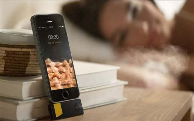 iPhone alarm wakes you up with the smell of bacon