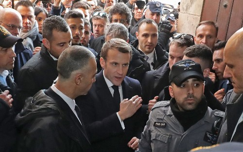 Emmanuel Macron accused of 'aping' Jacques Chirac with angry outburst against Israeli security in Jerusalem