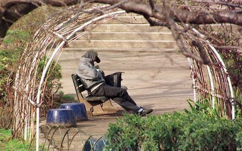 Homeless men turned away from Japanese storm shelter
