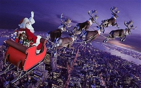 The science of Christmas: Santa Claus, his sleigh, and presents