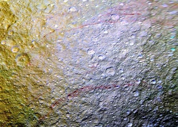 Mystery 'cat scratches' spotted on Saturn's moon Tethys