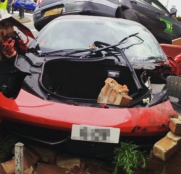 Driver crashes £220,000 Ferrari 458 Italia hire car into Bedfordshire house