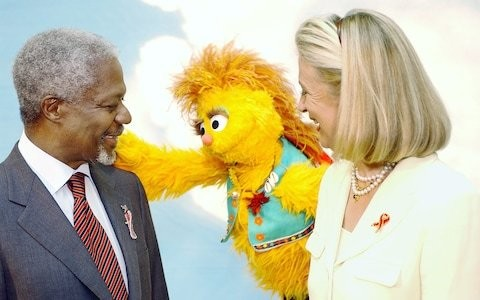 Kofi Annan's widow Nane on how he fought the stigma of Aids with the help of Sesame Street