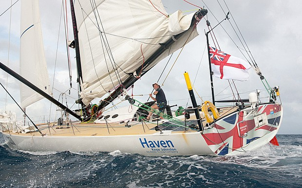 Sir Robin Knox-Johnston finishes solo transatlantic race at age of 75
