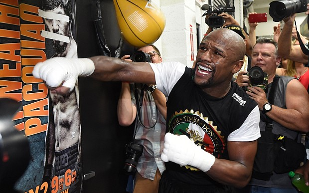 Floyd Mayweather v Manny Pacquiao: American says 'no disrespect to Muhammad Ali but I'm greater'