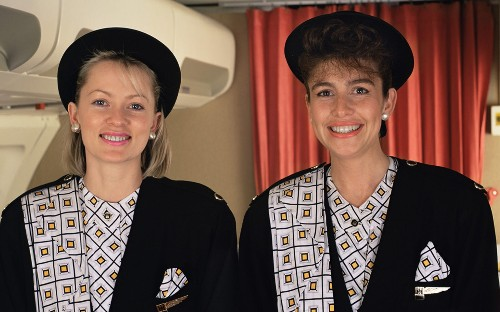 Cabin crew fashion: the best and worst from Monarch's archive