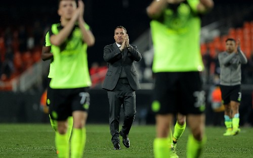 Brendan Rodgers blames referee as Celtic are dumped out of Europa League