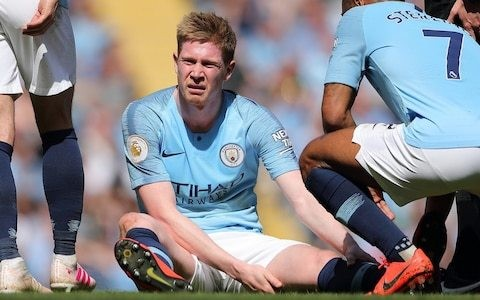 Kevin De Bruyne injury means he will not play in Manchester United tie, says Pep Guardiola