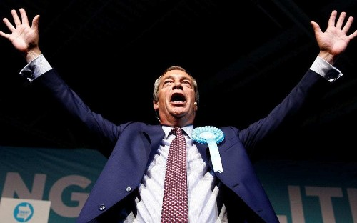 Nigel Farage tells European Parliament that undeclared donations were to help him become US TV star