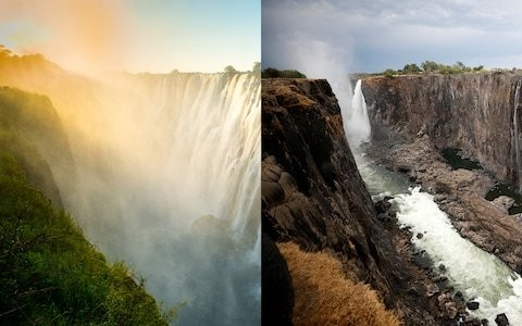 The shocking photo of Victoria Falls that shows the extent of Southern Africa's drought
