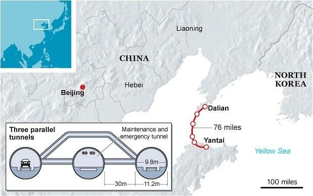 China plans the world's longest undersea tunnel