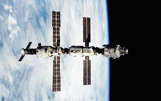 ISS astronauts dodge flying Russian space debris