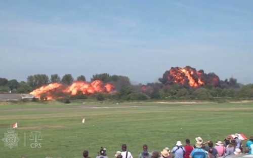 Jury shown video of Shoreham Airshow crash as court told pilot may have suffered 'cognitive impairment'