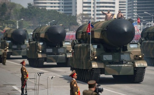 Tensions escalate as defiant North Korea 'makes unsuccessful missile launch' day after massive show of strength