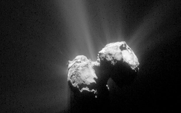 Rosetta films first images of comet as it passes close to sun