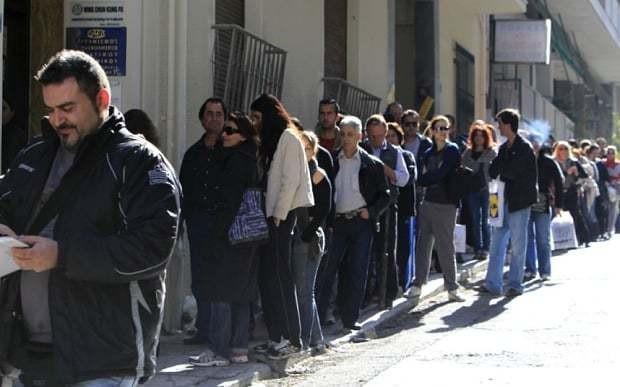 Desperate Greeks scour UK for jobs to escape debt crisis