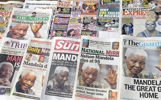 Nelson Mandela death: the world's front pages
