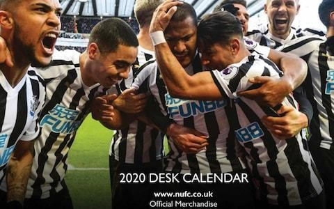 Newcastle United embarrassed by release of official club calendar with pictures of three players no longer at the club