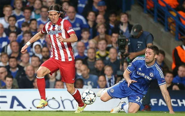Chelsea close in on deals to sign Atletico Madrid left-back Filipe Luis and striker Diego Costa