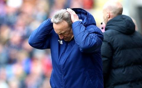 Defeat at Burnley pushes Cardiff closer to relegation as Neil Warnock is again frustrated by refereeing