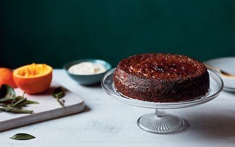 Orange and walnut cake with cinnamon, cardamom and ginger recipe