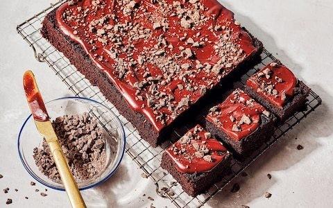 Texas chocolate sheet cake with chocolate ganache recipe