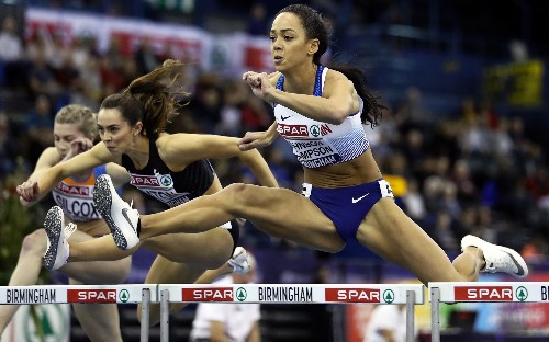 Katarina Johnson-Thompson steps up to win long jump British indoor title