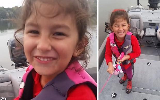 Little girl makes huge catch using Barbie fishing pole