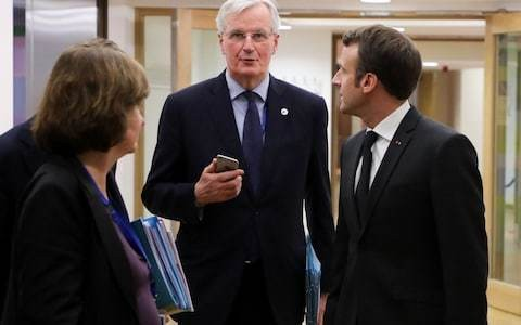 Macron backs Barnier for European Commission president and rules out Brexit extension