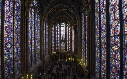 Sainte-Chapelle's stained glass windows now fully restored