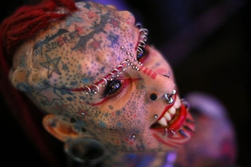 Extreme body modifications: Piercings, tattoos and implants on show in Caracas