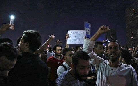 Nearly 400 arrested as Egypt clamps down on rare protests