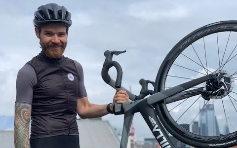 'Riding a bike helped me lose six stone': Meet Chris Hall, cycling's Forest Gump