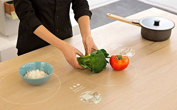 Ikea's hi-tech table teaches you how to cook