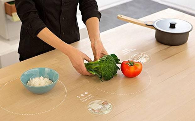 Ikea's hi-tech table teaches you how to cook