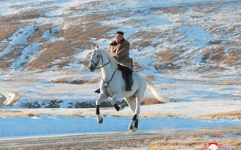 Kim Jong-un gallops up sacred mountain in show of power