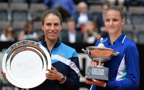 Johanna Konta hails 'big moment' despite losing Italian Open final to Karolina Pliskova