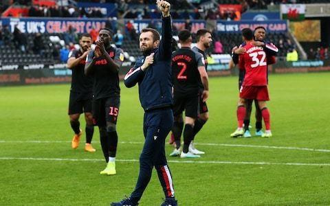 Joe Allen insists Stoke City players behind under-pressure Nathan Jones after last-gasp Swansea win