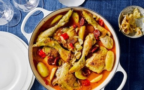 One-pot chicken with preserved lemon and chorizo recipe