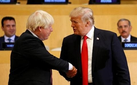 Boris Johnson to meet Donald Trump three times in first 100 days in office as US president praises him