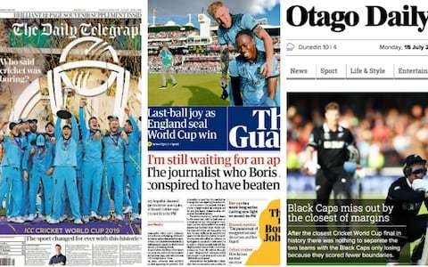 'Champagne Super Over': How the media reacted to England's World Cup triumph over New Zealand
