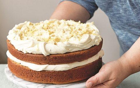 Tahini cake with lemon and white chocolate recipe