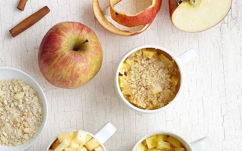 Microwave mug apple crumble recipe